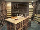 Первоклассной стеллаж для выставки товаров бутылки вина подарка творческой деревянной установленный стеной