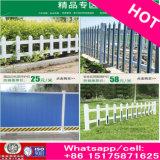 安い木製の穀物PVC立場のコラムが付いているプラスチック鋼鉄芝生の庭の塀は放す