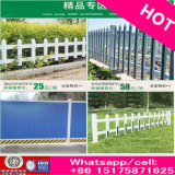 Rich Cheap Wood Grain PVC Plastic Steel Lawn Garden Fence com Stand Column Free