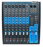 8 kanaal die de Professionele AudioMixer van de Console mengen (mq8fx-USB)