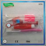 Nécessaire orthodontique dans le sac de tirette de PVC, 8 dans 1 nécessaire ortho-