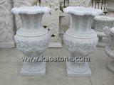 POT decorativi popolari della piantatrice del fiore del vaso del granito per il giardino