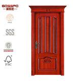 Porta de madeira francesa cinzelada do painel do estilo costume europeu (GSP2-047)