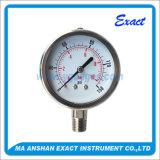 Calibre de pressão de aço Calibrar-Manómetro-Inoxidável da pressão hidráulica