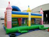 Castillo feliz inflable superior del partido de Slae, Funcity inflable para la venta