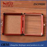 Cassetta portautensili trasparente rossa della lega di alluminio
