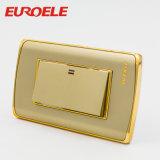 Interruptor original da parede do grupo da cor 3 do ouro da placa do PC da qualidade