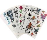Etiquetas engomadas temporales impermeables coloridas de moda del tatuaje