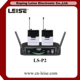 Ls-P2 de professionele UHF Draadloze Microfoon van 2 Kanalen