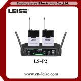 Ls-P2 profesional de 2 canales UHF de micrófono inalámbrico
