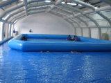2016의 대중적인 0.6~0.9 mm PVC 큰 옥외 주문을 받아서 만들어진 팽창식 수영장