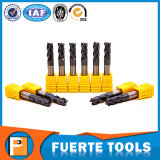 4 flautas de carburo de tungsteno Collet para tratamiento de metales