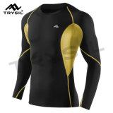 Usura Long-Sleeved stretta di sport della maglietta felpata degli uomini