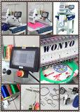 Wonyo 8 헤드 고속 전산화된 모자 t-셔츠 편평한 자수 기계