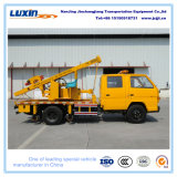 Carro del programa piloto del poste de la barandilla con el martillo del poste para presionar los postes de acero en la carretera