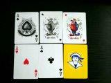 cartes de jeu de papier d'emballage du boîtier plastique 2pk/cartes de tisonnier