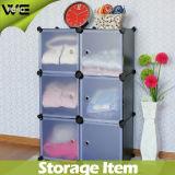 Caixa de armazenamento plástica da prateleira bonita do armário do Wardrobe do quarto