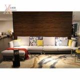 Moderno colorido Sofá de tecido com Canto (992A)