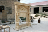 Двойная мраморный каминная доска камина для крытого украшения (SY-MF303)