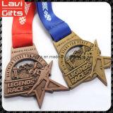 高品質リボンが付いているカスタム賞メダル