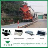 Scs-100 3*18m 100t Schalen van de Vrachtwagen van de Weegbrug