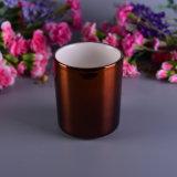Conjunto colorido de cerámica decorativo del sostenedor de vela de la boda Electroplated