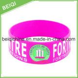 Bracelets en caoutchouc personnalisés de silicones pour la vente chaude