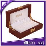 Nombre de lujo calificado rectángulo de reloj de la PU con la almohadilla de cuero