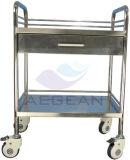 Ce de AG-Ss040c y precio aprobado de la carretilla del hospital de la Al-Aleación de la ISO