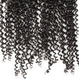 卸し売りイタリアの巻き毛のバージンの人間の毛髪のレースの上の閉鎖