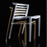 Geformte vollständige pp., die das Speisen und Kaffee-Stuhl (LL-0057, stapeln)