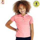 一次女の子の学生服のポロシャツ
