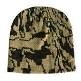 Sombrero negro de la gorrita tejida con la raya colorida (JRK181)