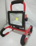De draagbare en Navulbare 20W 8h LEIDENE Waterdichte Lamp van de Vloed IP65