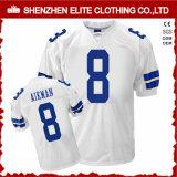 Chemises adultes faites sur commande bon marché en gros de football américain de la jeunesse de la Chine (ELTAFJ-72)