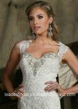 Крышка Sleeves платье венчания отбортовывая мантию Lb20178 шнурка Bridal