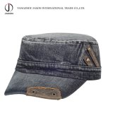 Воинской крышка джинсовой ткани джинсыов крышки гольфа шлема шлема Fedel бейсбольной кепки крышки Fidel крышки воинской помытая крышкой