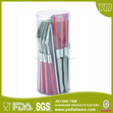 cutelaria aço ajustado/inoxidável da cutelaria plástica do punho 16PCS/24PCS; O Flatware/colher/faca e bifurcam-se jogos