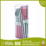 16PCS / 24PCS Plastic Handle Cutlery Set / Stainless Steel Cutlery; Conjuntos de talheres / colheres / facas e forquilhas