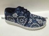 Красивейшие ботинки впрыски холстины конструкции, тавро OEM резвятся ботинки (FFCS111902)