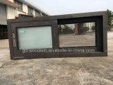 Ventana de desplazamiento de aluminio del vidrio Tempered del doble del precio de fábrica de Woodwin