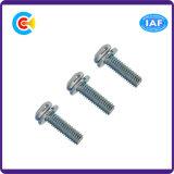 Edelstahlcinquefoil-Wannen-Kopf-Schraube für elektrisches/elektronisches/Maschinerie mit Unterlegscheibe