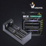 De 2-groef USB van Xtar van het nieuwe Product Mc2 Intelligente Lader 18650 de Universele Li-IonenLader van de Batterij