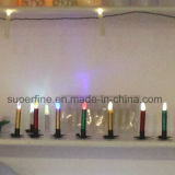 Color seguro del fuego elegante pequeño que cambia velas de imitación sin llama electrónicas de la forma cónica del goteo LED