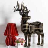 Bricolage creativo para animais de madeira de cervo de peluches