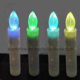 Vela de imitación sin llama suave de la forma cónica del goteo LED del pequeño uso con pilas de la sala de estar que oscila