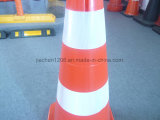 HDPE LED Fixed Two Color PE 750mm Traffic Cone
