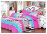 Printed Quilted Pigment Printing Microfiber Bedding Set