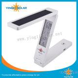 Lampe de bureau se pliante solaire avec la fonction d'indicateur de la température de datte d'horloge d'alarme d'horloge