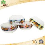 Tazón de cerámica de la etiqueta